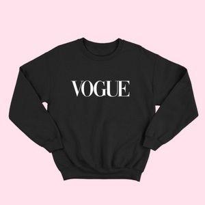 NEW VOGUE S-5X Oversized Sweatshirts Top Black